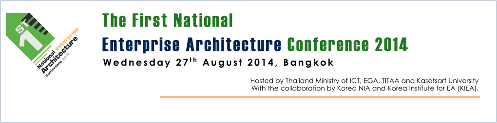 The First National Enterprise Architecture Conference